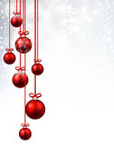 New Year background with Christmas balls. New Year background with red Christmas balls. Vector illustration stock illustration