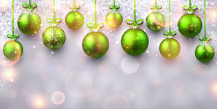 New Year background with Christmas balls. Stock Photo