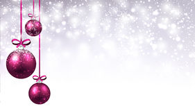 New Year background with Christmas balls. Royalty Free Stock Photography