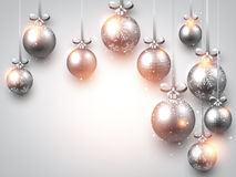 New Year background with Christmas balls. New Year shining background with Christmas balls. Vector illustration Royalty Free Stock Photos