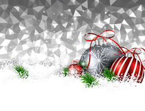 New Year background with Christmas balls. Silver geometric New Year background with Christmas balls. Vector illustration royalty free illustration