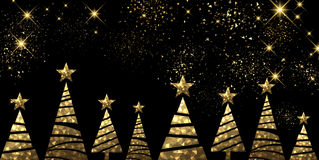 New Year background with Christmas trees. Stock Photo