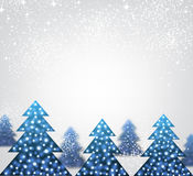 New Year background with Christmas trees. Royalty Free Stock Image