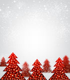 New Year background with Christmas trees. Stock Images