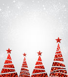 New Year background with Christmas trees. Royalty Free Stock Photo