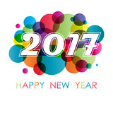 New year background with circles Royalty Free Stock Photography