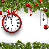 New year 2015 background with clock. Royalty Free Stock Photo