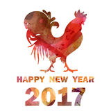 New year background with cock Stock Image