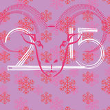 New year background. Colorful illustration  with  new year background Stock Image