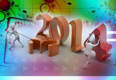 New 2014 year background. New 2014 year colour background Stock Illustration