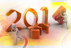 New 2014 year background. New 2014 year background in colour Stock Illustration