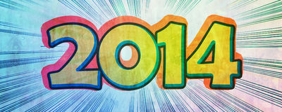 New year 2014 background Royalty Free Stock Photo