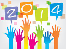 New year background. Of computer web design,office,vector Stock Image