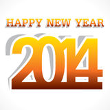 New year background. Creative Happy new year 2014 background Vector Illustration