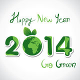 New year background. Creative Happy new year 2014 go green concept background Stock Photo