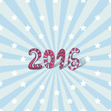 New year background. 2016 cute lettering. Vector card Stock Photography