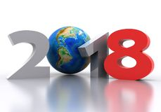 New Year - 2018. Background the New Year - 2018 3D Stock Photo