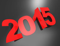 2015 new year background. 3d concept design Royalty Free Stock Photo