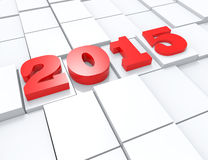 2015 new year background. 3d concept design stock illustration