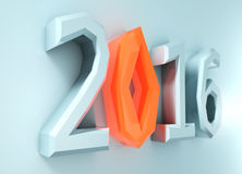 New 2016 year background. 3d illustration Royalty Free Stock Photo