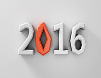 New 2016. Year background. 3d illustration stock illustration