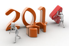 New 2014 year background. 3d rendering Stock Photos
