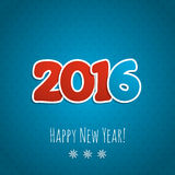 New year background. Date 2016 on a blue background. Vector illustration vector illustration
