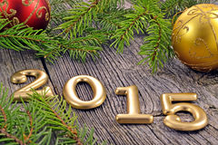 New Year background with decorations Royalty Free Stock Images