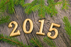 New Year background with decorations Royalty Free Stock Photo