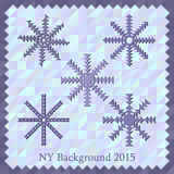 New Year background 2015. For design Stock Images