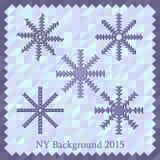 New Year background 2015. For design stock illustration