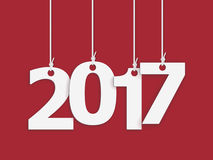 2017 New year. 2017 New Year background. Design of calendar. Vector illustration on red background Stock Images
