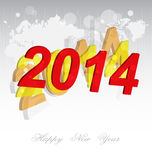 New Year 2014 background Stock Images