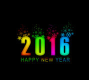 2016 new year background. 2016 new year in digital colour  background Royalty Free Stock Photos