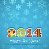 New year 2014 background. New year background with digits 2014 and snowflakes Royalty Free Stock Image
