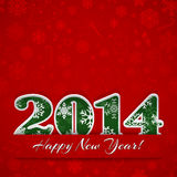 New year 2014 background. New year background with digits 2014 and snowflakes on red Royalty Free Illustration