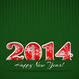 New year 2014 background. New year background with digits 2014 and stripes on green Royalty Free Illustration