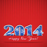 New year 2014 background. New year background with digits 2014 and stripes on red Royalty Free Illustration