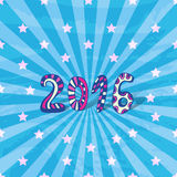 New year background. 2016 doodle. Vector bright Stock Image