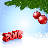 New Year 2016 background. An editable vector illustration of red baubles and New 2016 Year numbers vector illustration