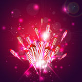 New year background with fireworks Stock Photography