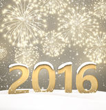 2016 New Year background Stock Photography