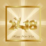 New year background with gold hanging numbers royalty free stock photography