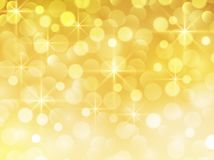 New year background gold. With glittering bokeh lights, christmas bokeh background Stock Photography