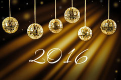 New year background with golden light Royalty Free Stock Images