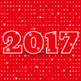 New Year 2017, background, grid snowball. Banner, icon. Vector. 2017 on background with grid of snowball random size. Banner or icon or greeting card for New Royalty Free Stock Photos