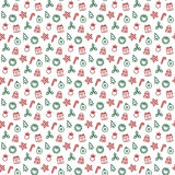 Seamless new year pattern and background vector illustration stock illustration