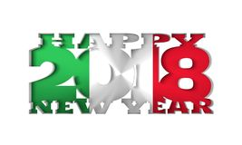2018 New Year Background. 2018 Happy New Year Background for Seasonal Flyers and Greetings Card or Christmas themed invitations. Flag of the Italy. 3D rendering Stock Photos