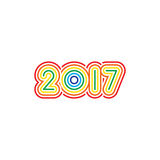 New Year 2017 Background. Happy New Year 2017 Background Seasons greetings Stock Photography