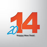New year background. Happy new year 2014! Typography poster with blue 20 and orange 14 Royalty Free Stock Photography